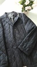 SAKS FIFTH AVENUE Men's Charcoal Grey Wool Quilted Jacket Coat NWT