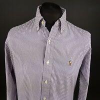 Polo Ralph Lauren Mens Oxford Shirt 15.5 39 (MEDIUM) Long Sleeve Purple Custom