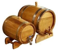 10L 2.64Gal Oak Barrel Roll Wooden Keg Cask Beer Whiskey Wine Water Tank New