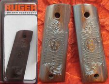 RUGER Genuine USA Original OEM SR1911 SR 1911 Scroll Engrave Wood Cocobolo grips