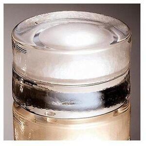 Lumisource Glass Cylinder Glass Ice Table Lamp Desk Light Warm White 10W, 110V