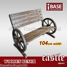 Bench Timber Wooden Outdoor Garden Patio Park Wheel Chair Seat Vintage Wood Free