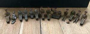 Britains: Assorted Vehicle Drivers. 54mm Metal Figures. c1950s