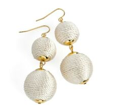 Off White Chunky Bauble Ball Drop Earrings