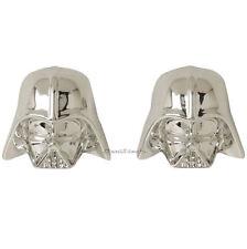 Star Wars Darth Vader Helmet Stud Post Insertion Chrome Color Earrings Licensed