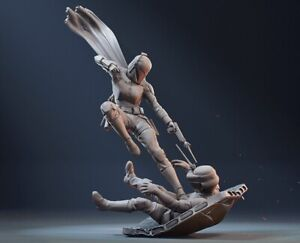 Star Wars - Bo Katan Kryze Figurine - 3D Printed Garage kit.