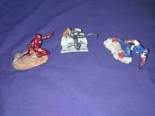 "Marvel Avengers Iron Man, Black Widow, Captain America 3""PVC Cake Toppers 2011"