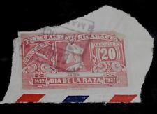 Nice Vintage Used Nicaragua 20 Dia de la Raza Stamp, GOOD COND