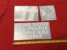 3 Sticker Pack G2 Hello Kitty gun F* It Guns Dont Kill People Do jdm combo Bomb