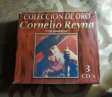 Cornelio Reyna Coleccion de Oro Con Mariachi 3CDS New
