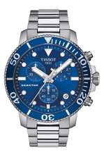 authentic TISSOT SEASTAR 1000 CHRONOGRAPH blue dial watch T120.417.11.041.00