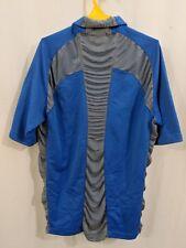 Nike Running Top Shirt Sphere React Mens Medium Grey Blue Polo Athletic Top