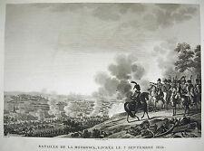 Bataille de la Moskova Borodino Russie Mikhaïl Koutouzov Napoléon Bonaparte 1815