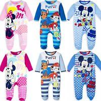 Baby Boys Girls Disney Paw Patrol Sleepsuit Romper Babygrow Pyjamas Newborn-24m