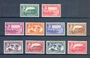 MONTSERRAT SG 101-10 1938 ORIGINAL PERF 13 SET TO 5/-  M/M