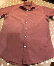 TOPMAN SHORT SLEEVE SHIRT DARK PINK SIZE SMALL MENS! Brand New!