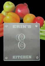 Personalized Glass Cutting Board -   8 Inches x 8 Inches - Engraved