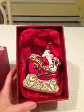 New in Box Lenox Yuletide Treasures 2001 Collectible Ornament Santa In Sleigh