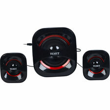 SPEAKER SYSTEM HIGH QUALITY USB SOUND TEXET 2.1 HIGH DENSITY CHANNEL SET SUB NEW