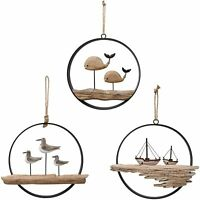 Rustic Wooden Nautical Decor Hanging Wood Nautical Home Decoration for Wall