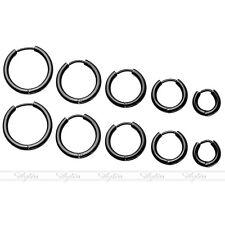 Men's Stainless Steel Tube Ear Helix Hoop Huggie Sleeper Stud Earrings 8-16mm