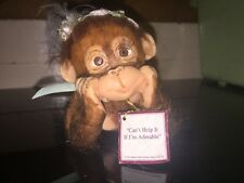 """Ashton Drake """"Couldn'T Be Cuter"""" Collection Can't Help it if I'm Adorable Monkey"""
