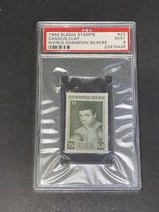 1964 Slania World Champion Boxers #23 Cassius Clay RC PSA 9 Muhammad Ali GOAT