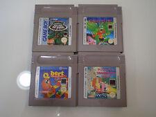 Nintendo Gameboy classic lotto giochi Gargoyle Pugsley Turtles Q-Bert