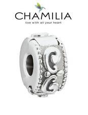 VGC Genuine CHAMILIA 925 silver PRINCESS freedom lock stop clip charm bead