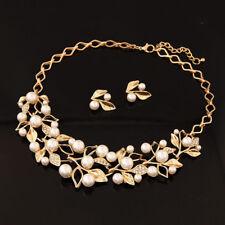 Beads Chunky Statement Bib Pendant Chain Choker Necklace Women Fashion Jewelry
