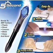 5 Second Fissaggio Liquido Plastica UV Saldatura Kit Difficoltà Di Riparazione &