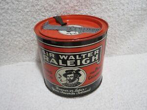 vintage Sir Walter Raleigh tobacco tin merchandise tin lot T
