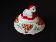 Lenox Christmas Surprise Collector Egg Christmas 1994 Puppy Present Ribbon Holly