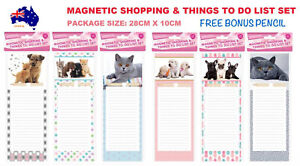 Fridge Magnetic Shopping Things To Do List Sticky Notepad Memo Pad Notes 40Pages