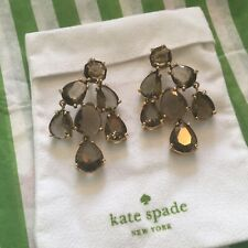 Stunning Kate Spade Black Diamond CHANDELIER Earrings 14kt gold filled $98