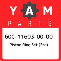 60C-11603-00-00 Yamaha Piston ring set (std) 60C116030000, New Genuine OEM Part