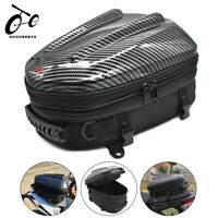 Motorcycle Tail Bag Black Rear Seat Helmet Bag Motorbike Backpack  Luggage Pouch