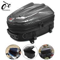Motorcycle Tail Bag Black Rear Seat Helmet Bag Motorbike Backpack  Luggage Pouch