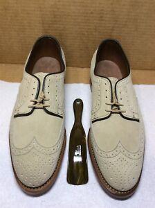 New Allen Edmonds Player's Shoe 8 D sand sueded leather {R}