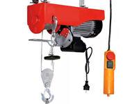 TREUIL PALAN ELECTRIQUE LEVAGE A CABLE 220V 500 / 1000KG 1300W + TELECOMMANDE