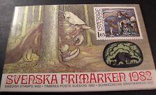 Sweden 1982  Year Stamp Set (Pack) Folder with MNH  L96