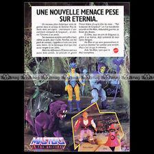 Mattel MASTERS OF THE UNIVERSE MAITRES DE L'UNIVERS Figurines 1985 Pub Ad #A813