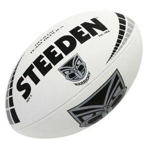 Steeden New Zealand Auckland Warriors NRL White Football - Size 5
