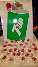 7up COOL 36 SPOT Magnets with Advertising Display 1988 7UP NOS
