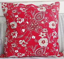 "LARGE CUSHION COVER 60 X 60 RED WITH FLORAL PATTERN -"" MEERA BAI RED"" -"
