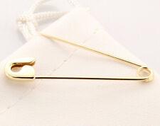 """18k Gelbgold Sicherheitsnadel Handmade in USA (1.5"""")"""