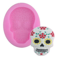 Skull Fondant Cutter Mould Cake Decoration Silicone Molds Cupcake Baking Tool_UK