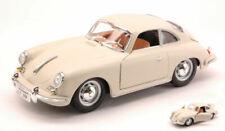 Porsche 356 B Coupe' 1961 White / Cream 1:24 Model 22079W BBURAGO