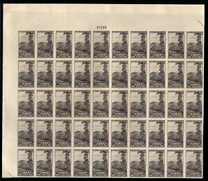 "765 Farley spec printing "" 10c National Park"" Sheet of 50 Mint,NH"