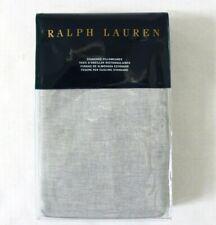 Ralph Lauren Two Standard Pillowcases Cotton Linen Blend Cary Graphite Grey $115